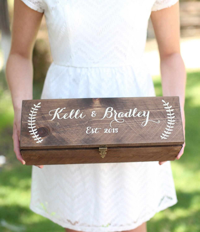 Personalized Wine Box Custom Keepsake Time Capsule Wedding