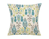 Teal and Grey Pillow Cover.Decorator Pillow Cover.Home Decor.Large Print.NEDA BIRCH.Cushions. Cushion.Pillow. Premier Prints