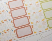 16 Half Boxes Fall Autumn Planner Stickers PS156 Fits Erin Condren Planners