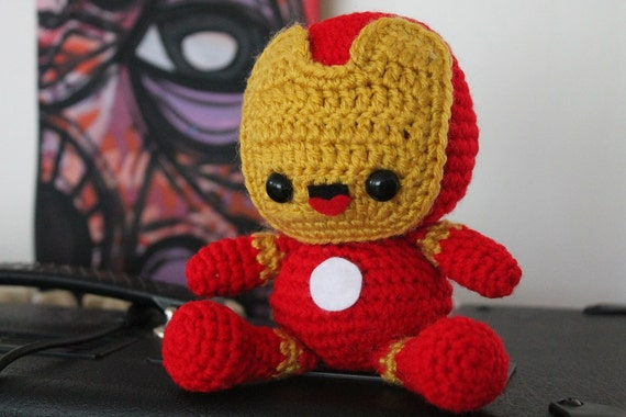 Iron Man Pattern Iron Man Amigurumi Marvel