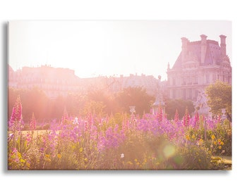 Sunrise in the Tuileries, Gallery Wrapped Canvas Set, Paris Gallery Wrapped Canvas, Large Wall Art, French Home Decor
