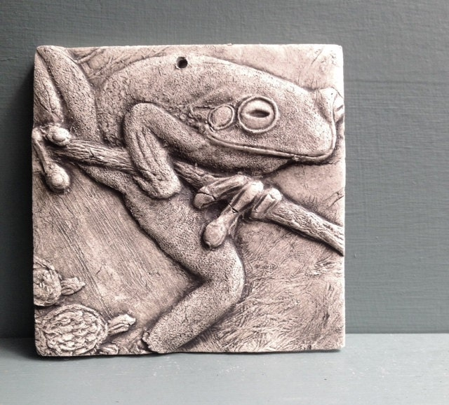 Frog 4x4 Ceramic Porcelain Relief Animal Tile