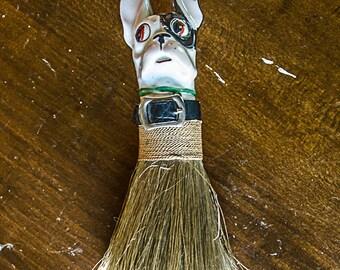 Vintage 1920s 1930s German Ceramic Dog Clothes Wisk Brush