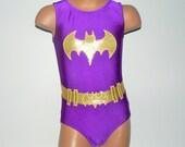 BATGIRL Inspired Toddlers Girls Leotard. Performance Costume. Dancewear. Gymnastics Leotard. Dance Leotard. SIZES 2T - Girls 12