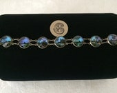 Vintage Blue Morpho Butterfly Wing Bracelet...Tropical Beach Wedding...Bridesmaids Gift  #6