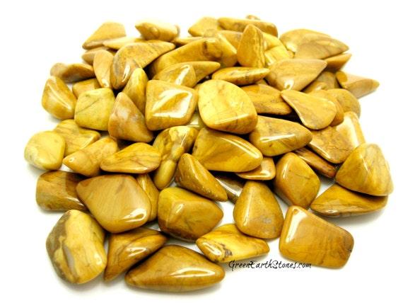 TWO Yellow Jasper Tumbled Stones, Crystal Healing, Crafts, Feng Shui, Reiki, Crystal Grids, Artisan