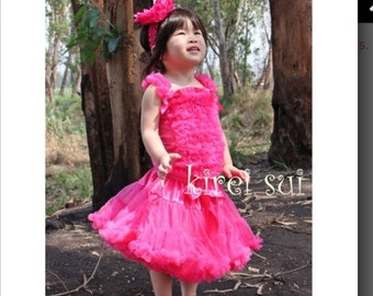 Girls Pettiskirt in Pink or Hot Pink