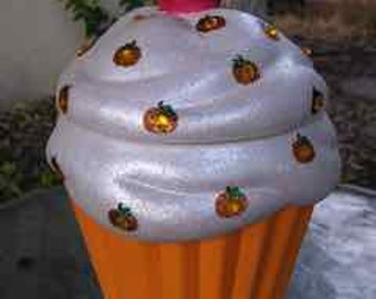 Pumpkin Bling Cupcake Jar