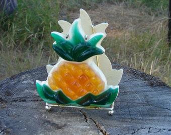 Vintage Lucite - Resin Pineapple Napkin Holder 1960s/1970s