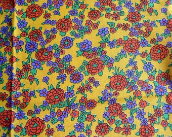 Vintage Fabric  - Mod Floral Upholstery - 46 x 60