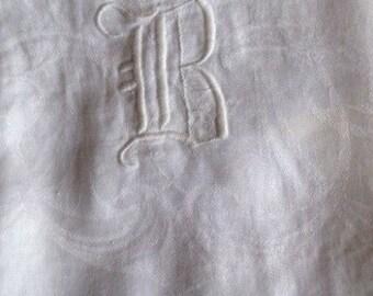 Vintage Linen Damask Towel