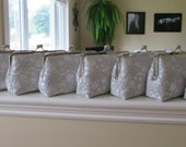 SALE 20% OFF, Bridal Silk And Lace Clutch Set Of 8 Grey Clutches,Wedding Clutch,Bridesmaid Clutches,Bridal Accessories