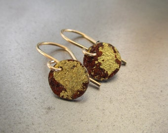 ity bity rust and gold earrings