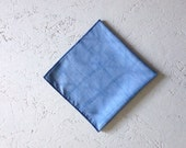 indigo blue handkerchief bandana pocket square