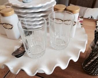 Vintage Orange Juice Glasses made in France