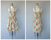 Vintage 1970s Dress | 70s Dress | 70s Sundress | 1970s Floral Day Dress | Cotton Sun Dress