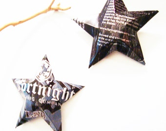 Fortnight Brewing Co, ESB Beer Stars Christmas Ornaments Aluminum Can Upcycled
