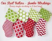Jumbo Size, Handmade Christmas Stockings, Traditional Stockings, Custom, Personalized Christmas Stockings, Family Stockings, 2 foot long