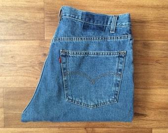 Vintage Men's 80's Levi's 550, Jeans, Medium Wash, Denim, Relaxed Fit (W36x L28)