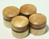 Set of 4 Spalted Maple and Cocobolo Guitar Knobs (3/4 inch dia x 11/16 height)