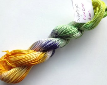 Snap Dragon Hand Dyed Perle Cotton Size 5
