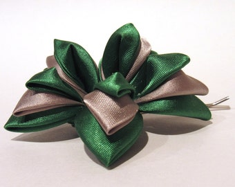 Green and Silver Starlily Hair Ornament