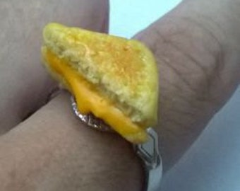 Polymer Clay Grilled Cheese Sandwich Ring