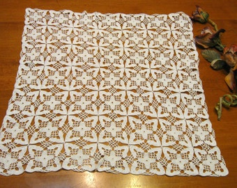 Crochet Doily, Creamy White/Ivory,  Cottage Charm, French Country, Shabby Chic,  Cottage Charm