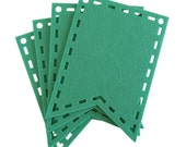 Mint Cutout Laser Cut Flags for Banners and Buntings DIY