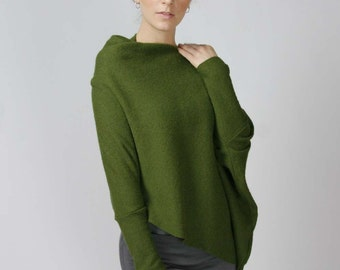 Asymmetrical pullover sweater - WANDER range - made to order