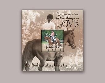 """Unique Equestrian Dressage Picture Frame 10"""" x 10"""""""