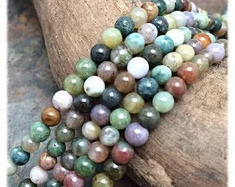 Fancy Jasper Semi Precious 4mm Round Beads
