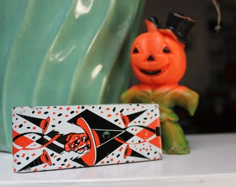 Tin Lithographed Noisemaker Ratchet style Halloween VINTAGE by Plantdreaming