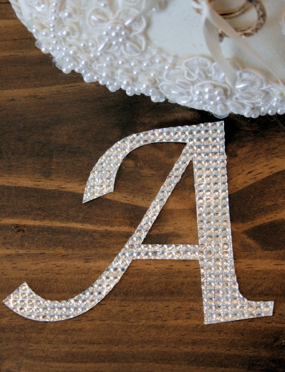 Unavailable listing on etsy for Large adhesive rhinestone letters