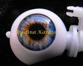 Blythe eye chips OOAK REALISTIC custom set H17, by Ana Karina. UV laminated