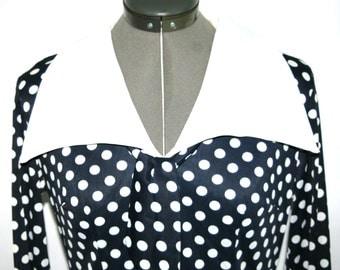 Cute 1960s Polka-Dot Sailor Dress