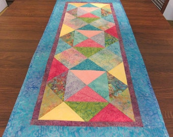 Sun Shinny Day Multi Colored Batik Table Runner