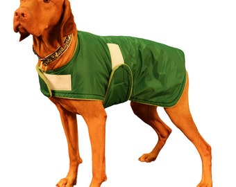 Boxer Winter Coat, custom made just for your dog with adjustable velcro closures