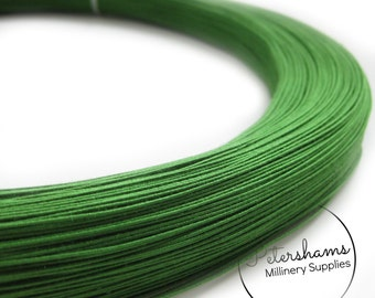 0.4mm (46 Gauge) Extra Fine Cotton Covered Millinery Wire (For Hat Making, Flower Making) - Green