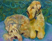 """Kerry Blue 24"""" x 30"""" Oil Painting for Catherine"""