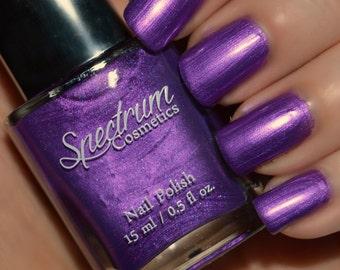 VIOLETTA Purple shimmer Halloween Nail Polish