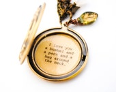 I love you a bushel and a peck and a hug around the neck - Quote Locket - Women's Locket