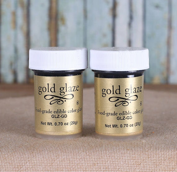 Gold Luster Dust Glaze Gold Edible Fondant Glaze Edible Gold