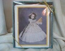 Vintage Scarlett O'Hara Madame Alexander Doll Note Cards With Envelopes -  Set of 12