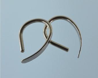 14 gauge niobium earrings: Slim Apostrophe