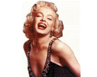 Marilyn Monroe Cross Stitch Pattern ( Printable PDF ) - Immediate Download from Etsy