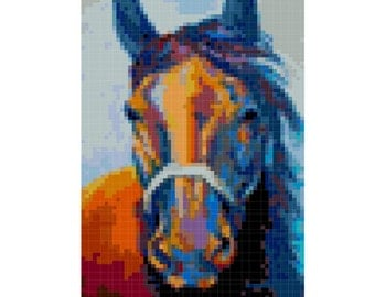 Horse Cross Stitch Pattern ( Printable PDF ) - Immediate Download from Etsy