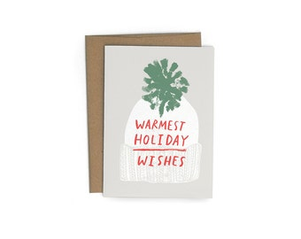 Warmest Wishes A6 Greeting Card