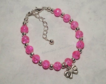 Bright Pink Bow Bracelet