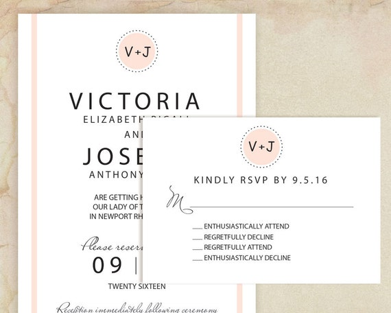 Humor Wedding Invitations: Printable Funny Wedding Invitation Humorous RSVP By VGInvites